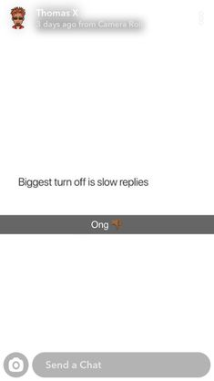 Turn Off, I Can Relate, Camera Roll