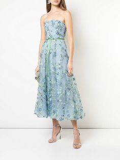 ce64f933 Marchesa Notte floral embroidered strapless gown $795 - Shop SS19 Online -  Fast Delivery, Price