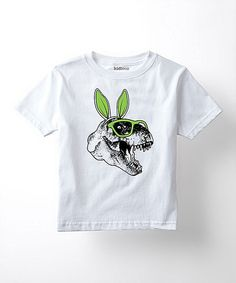 Loving this White Bunny Ears T-Rex Tee - Toddler & Kids on #zulily! #zulilyfinds