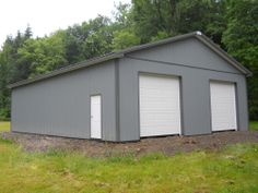 """Building Dimensions: 36' W x 48' L x 12' 4"""" H (ID# 367)  Visit: http://pioneerpolebuildings.com/portfolio/project/36-w-x-48-l-x-12-4-h-id367-total-cost-22094  Like Us on Facebook! https://www.facebook.com/Pioneer.Pole Call: 888-448-2505 for any questions!"""