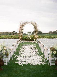 #ceremony #wedding #arch #weddingarch #weddingflowers #flowerarch    Photography By / http://troygrover.com,Wedding Planning By / http://brookekeegan.com