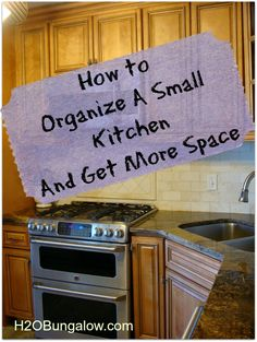 How To Organize A Small Kitchen And Get More Space Downsizing came with some big challenges. How to organize a small kitchen and get more space for storage and everyday items will change how you think! Kitchen Redo, Kitchen Pantry, Space Kitchen, Kitchen Ideas, Kitchen Designs, Kitchen Layout, Decor For Kitchen Counters, Kitchen Styling, Organized Kitchen