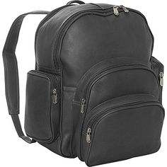 Piel Leather Expandable Backpack Black One Size -- Click on the image for additional details.