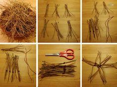 Starry Night #3 * Pine Needle Star * DIY Advent Calendar - craftaliciousme