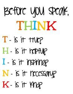 THINK Classroom Inspiration Sign {Freebie}!