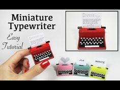 Miniature Vintage Typewriter Tutorial - YouTube