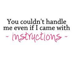 Guys don't usually read instructions anyway..... Ha Ha!