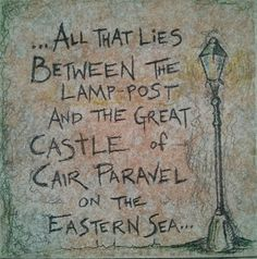Lamppost/Cair Paravel Tumnus Narnia Quote on by ScribbleSketches, $12.00
