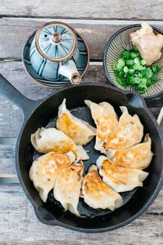 Gyoza can be served with ponzu sauce or soy sauce and vinegar. So addictive!