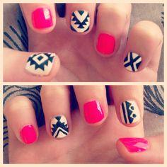 Tribal nail art... Seems easy enough