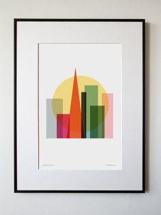 BACK BEDROOM - Gallery Wall - Rise and shine, San Francisco. $25.00, via Etsy.