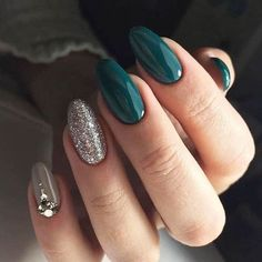 Mix And Match Nail Ideas To Try This Fall, Fall nail art designs - autumn nai. - Fancy nails Mix And Match Nail Ideas To Try This Fall, Fall nail art designs - autumn nai. - Fancy nails - 55 Stylish Nail Designs For New Year 2020 Acrylic Nail Art, Acrylic Nail Designs, Foil Nail Art, Hair And Nails, My Nails, Nails Today, Teal Nails, Burgendy Nails, Oxblood Nails
