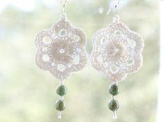 Boucles d'oreilles au crochet,avec perles. : Boucles d'oreille par from-yarn-to-knit