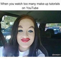 "Worst Makeup Fails Of All Time.less is more ladies, less is more. - this isn't a make up fail. The make up is done like the guys from ""White Chicks"" Bad Makeup Fails, Epic Fail, Just For Laughs, Just For You, Ghetto Red Hot, Bad Eyebrows, Funny Eyebrows, White Chicks, How To Apply Makeup"