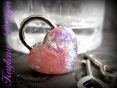 Heart Lock working lock lock and key  Love Lock by cutiepa2d, $18.00