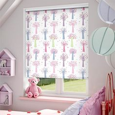 Enchanted Forest Candy Blackout Roller Blind%20from%20Blinds%202go