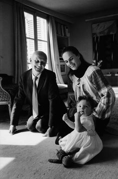 Henri Cartier-Bresson and Martine Franck with their child Melanie in 1973. Photographed by Marc Riboud