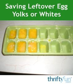 Sometimes recipes call for egg whites and you are left with the yolk or vise versa. Saving the extra yolks or whites for use in another dish later is easy and a great way to reduce food waste. This is a guide about saving leftover egg yolks or whites. Egg Yolk Recipes, Egg White Recipes, Recipe Using Egg Whites, Freezing Eggs, Paleo Cookies, Low Carbohydrate Diet, Food Hacks, Food Tips, Food Waste