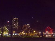 When you get stuck between the moon and New York City... you get the lights around the Boston Common!