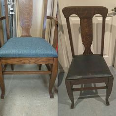 Restored 6 of these beautiful Tiger Oak chairs for a wonderful client. Oak Chairs, Dining Chairs, Restoration, Stool, Furniture, Beautiful, Home Decor, Homemade Home Decor, Stools