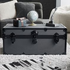 Maximize your storage with a classic dose of style! Our quality-made Dorm Trunks are crafted from birch hardwood for enduring design and durability that you'll appreciate for years to come. It's built with a sturdy base and sleek trim that gives your space a modern feel. Pottery Barn Teen Standard Dorm Trunk Dorm Storage, Storage Trunk, Hanging Closet Organizer, Guest Room Office, Dorm Essentials, Room Planner, Pottery Barn Teen, Custom Furniture, Room Inspiration