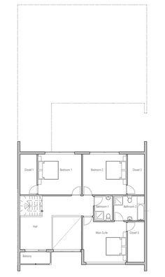 modern-houses_10_home_plan_ch236.png   Diseño   Pinterest   Modern ...