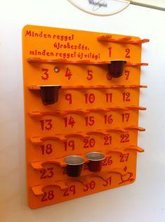 Calendar Nespresso capsule holder  http://www.facebook.com/graverik