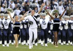 PENN STATE – FOOTBALL 2013 – Feature twirler Matt Freeman is recognized during his final game on Senior Day, Saturday, November 23, 2013. CHRISTOPHER WEDDLE — Centre Daily Times