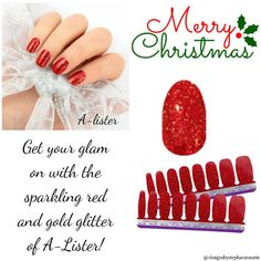 A-Lister Holiday Nails, Christmas Nails, Fail Nails, Street Game, Get Glam, Nail Polish Strips, Color Street Nails, Accent Nails, Girly Things