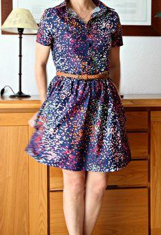 Cami Dress using Sprinkles fabric by Dear Stella