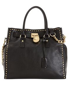 MICHAEL Michael Kors Handbag, Hamilton Whipstitch North South Tote - Handbags & Accessories - Macy's