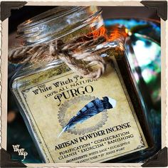 PURGO Powder Incense All Natural. Blessed by Onyx & Clear Quartz Crystals. For Purification & Smudging.