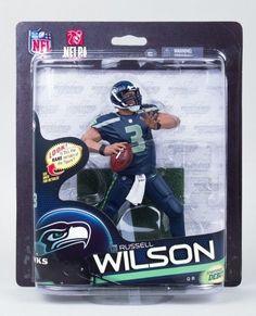 MCFARLANE NFL SERIES 33 RUSSELL WILSON Super Bowl Champion Action Figure