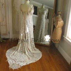 Victorian Hippie, One of a kind. Vintage lace and leather handmade by Hippie Bride Hippie Bride, Vintage Lace, Sash, Headpiece, Victorian, Wedding Dresses, Leather, Handmade, Bride Dresses
