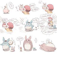 Hey looks it's トトロ + ハイキュー! Haikyuu Meme, Iwaoi, Cartoon Movies, Anime Demon, Totoro, Favorite Tv Shows, Cool Art, Geek Stuff, Creatures