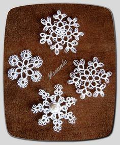 frywolitkowe śnieżynki