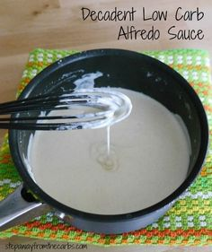 Decadent Low Carb Alfredo Sauce