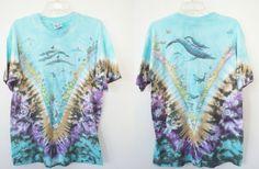 Seapunk Shirt Ocean Whales Teal Blue Tshirt Mens by yokovintage, $43.99