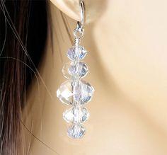 Crystal Bridal Earrings Swarovski Crystal by PixieDustFineries