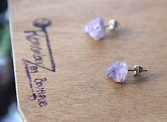 GENUINE Amethyst Earrings Healing Crystal Natural Stone Yoga Jewelry healing jewelry healing bracelet fluorite jewelry positive energy by rememberZEN on Etsy https://www.etsy.com/listing/157888948/genuine-amethyst-earrings-healing