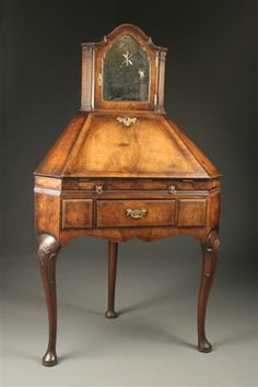Exquisite Antiques: This early 19th century English corner slant front secretary is the only one of its kind that we have ever had in the shop! Read more about why they are so rare on our website: http://www.beauchampantiques.com/inventory/early-19th-century-english-corner-dropleaf-secretary/  #antiques #cornerdesk