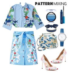 """Stay Bold : Pattern Mixing"" by jejeeexs ❤ liked on Polyvore featuring VIVETTA, GUESS by Marciano, Henri Bendel, Michael Kors, Monica Sordo and MAC Cosmetics"