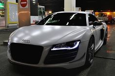 "Matte White Audi R8 GT. This is my ""kids are off to college Mommas sexy ride"" car ;)"