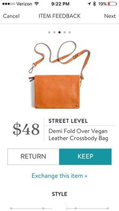 Street Level Demi Fold Over Vegan Leather Crossbody Bag. I love Stitch Fix! A personalized styling service and it's amazing!! Simply fill out a style profile with sizing and preferences. Then your very own stylist selects 5 pieces to send to you to try out at home. Keep what you love and return what you don't. Only a $20 fee which is also applied to anything you keep. Plus, if you keep all 5 pieces you get 25% off! Free shipping both ways. Schedule your first fix using the link below…