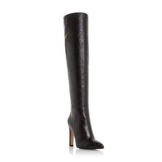 DUNE BLACK LADIES SARA - Leather Over The Knee Pointed Toe Boot - black | Dune Shoes Online