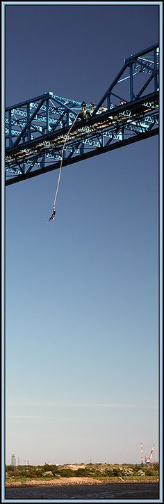 Bungee jumping in Middlesbrough.