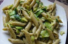 Recette - Pâtes aux courgettes / pesto / jambon de parme et mozzarella - Proposée par 750 grammes