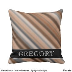 Blurry Rustic Inspired Stripes Pattern + Name Pattern Names, Rustic Design, Decorative Throw Pillows, Stripes, Inspired, Inspiration, Biblical Inspiration, Accent Pillows, Decor Pillows