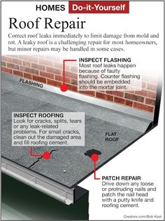 Flat roof repair rubba roof liquid rubber roof seals diy home repair heres how to locate and repair a leak in a flat roof sciox Gallery