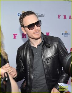 michael fassbender works the red carpet in a leather jacket 05 Michael Fassbender is so easy on the eyes as he hits the red carpet at the Frank premiere held at The Light House Cinema on Thursday evening (April 24) in Dublin,…
